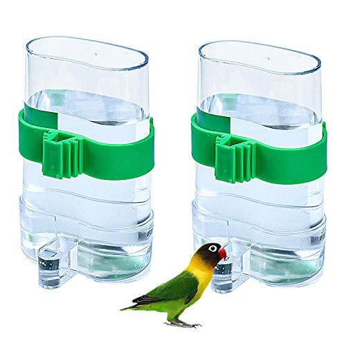 Vögel Automatischer Wasserspender Futterspender Vogel Wasserspender Futterstation Futterspender Vogelkäfig Zubehör für Vögel Wellensittiche Nymphensittiche Papageien Voliere 7,5 X 3,2 X 13,4 cm 2 STK
