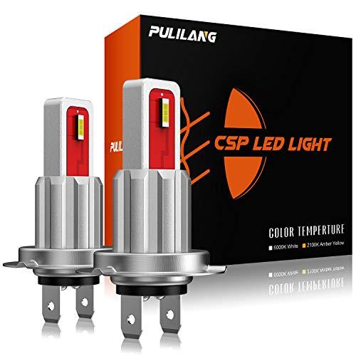 Pulilang Bombillas LED Antiniebla H7 CSP 6000K Xenón Blanco LED de Conducción...