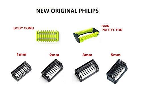 Tutti I Pettini In Pacchetto Combs 1 2 3 5 Millimetri Trimmer Clipper Skin Per Philips Oneblade One Blade Rasoio QP2510 QP2520 QP2521 QP2522 QP2523 QP2530 QP2531 QP2620 QP2630