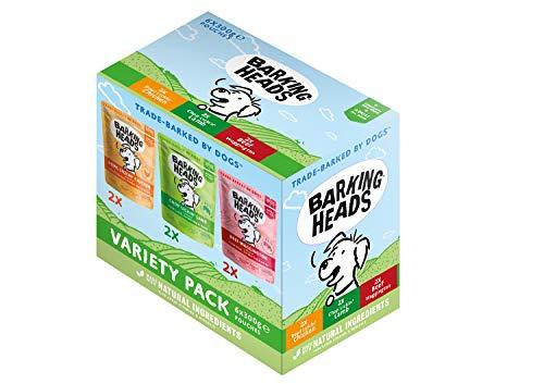 Barking Heads Adult Dog Food Wet Pouches Sobres De Comida Húmeda para Perros-Pack Surtido-Receta Natural Sin Cereales Ni Aromas...