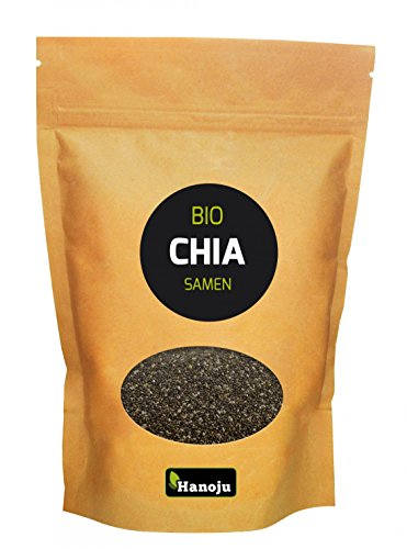 Hanoju Bio Chia Samen 1000 g - Nahrungsergänzungsmittel für die Gesundheit und zur besseren Verdauung