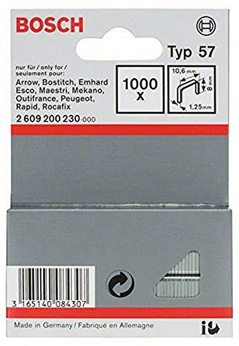 Bosch Professional 2609200230 1000 Tackerklammern 8/10,6 mm Typ57