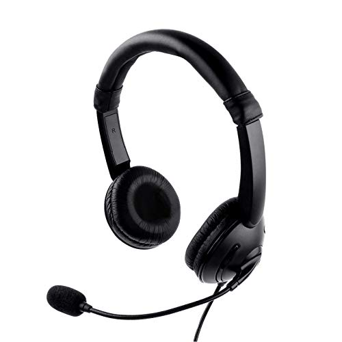 Kasuse USB Headset mit Mikrofon, kabelgebundenes USB kopfhörer für entspanntes Chat Gaming, e-Learning und Musik, Unternehmen UC Skype Lync, Noise-Cancelling-Mikrofon,Audio Steuerung PC Kopfhörer
