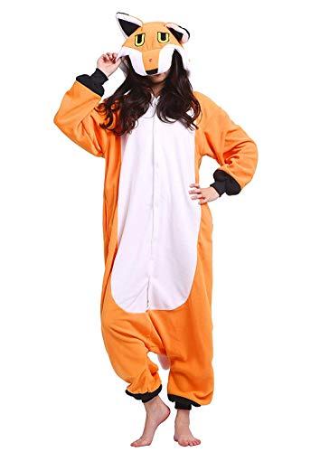 Pigiama Anime Kigurumi Animale Cosplay Volpe Costume Adulti da Unisex Taglia S