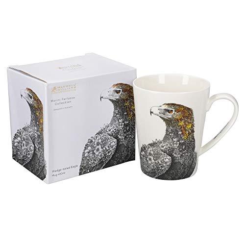 Maxwell & Williams Marini Ferlazzo Birds Tazza in porcellana fine con motivo aquila a coda di cuneo, in confezione regalo