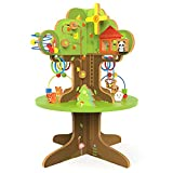 KIDFUL My First Treehouse - Wooden Playground Activity Center and Educational Tree Toy for Toddlers Boys & Girls