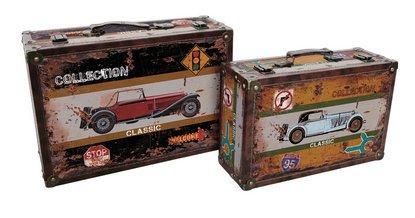Alice Collection de juego de 2maletas de madera–de coches–39x 27x 13cm y 34x 22x 11cm