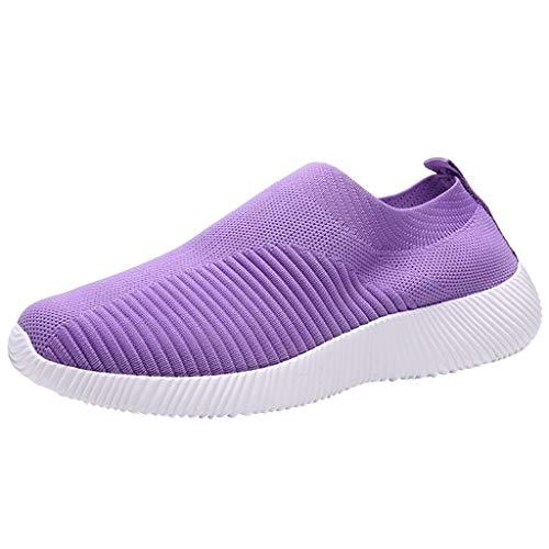 Yowablo - Zapatillas de deporte para mujer Lila. 43 EU