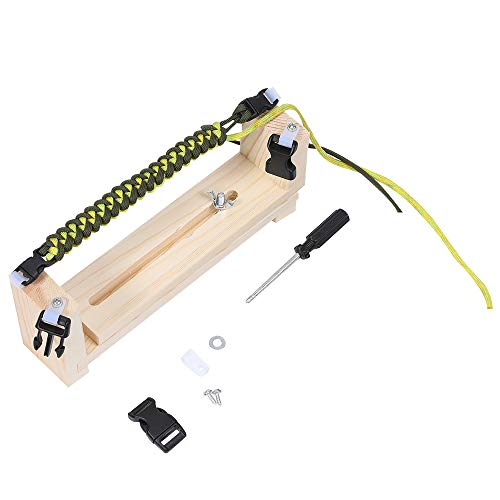 Adjustable Length Paracord Jig Bracelet Maker Wooden Frame-Paracord Braiding Weaving Craft Tool Kit, Wristband Maker