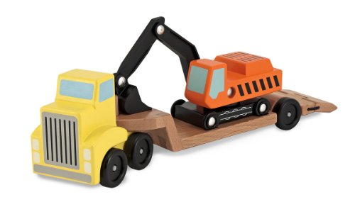 Melissa & Doug Trailer & Excavator,Multi-colored