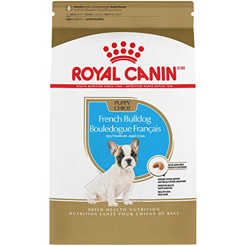 Royal Canin French Bulldog Puppy Breed Specific Dry Dog Food, 3 pounds. Bag