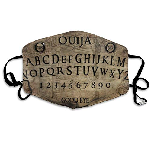 Anti Dust Face Mouth Cover Mask - Washable Reusable Comfy Masks-Protective Breathable Warm Windproof Mask for Man and Woman Vintage Older Ouija Board Black