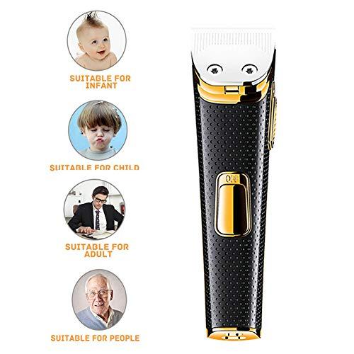 Hair Clippers Voor Mannen, Professionele Elektrische Tondeuse Scheerapparaat Baardtrimmer, Kaal Hoofd Clipper Draadloze Tondeuse, Opladen Via USB,Gold