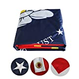 SOULBUTY New Mississippi State Flag 3x5 Double Sided- Nylon Cloth- Embroidered Stars- in God We Trust Flag- Magnolia Flag