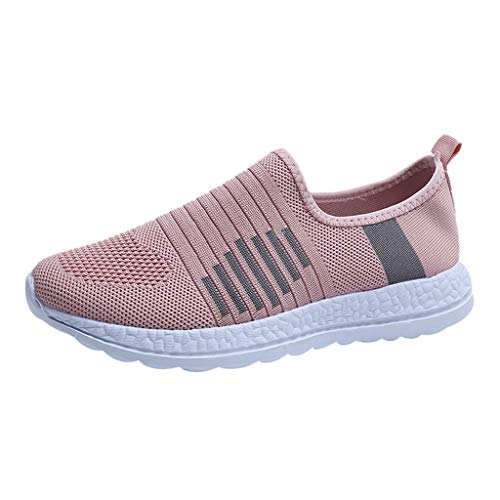 Great Price! KAIXLIONLY Women Fashion Sneakers Mesh Breathable Slip On Flat Shoes Outdoor Sports Run...