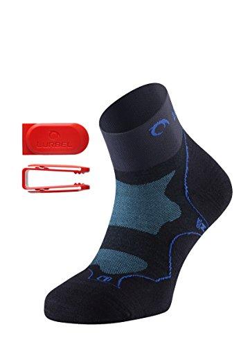LURBEL Desafio, Calcetines de trail running, calcetines para correr, calcetines Anti-ampollas y Anti-olor, Calcetines sin costuras, Unisex, Talla M
