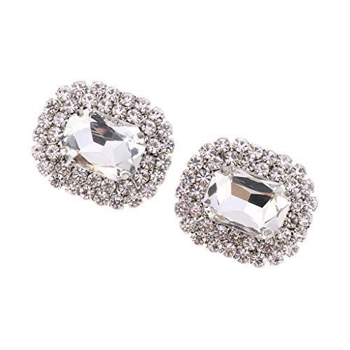 1 Par Clips de Zapatos con Diamantes de Imitación Hebilla de Zapatillas...