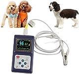 L&F Oxímetro CMS60D-VET para Mascotas Veterinaria Veterinaria Oxímetro de Clip del oído Tipo Conveniente para el hogar, Pet Hospital
