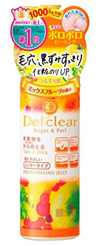 Meishoku Del Clear Bright and Peel Facial Peeling Gel, Mix Fruit, 180 mL