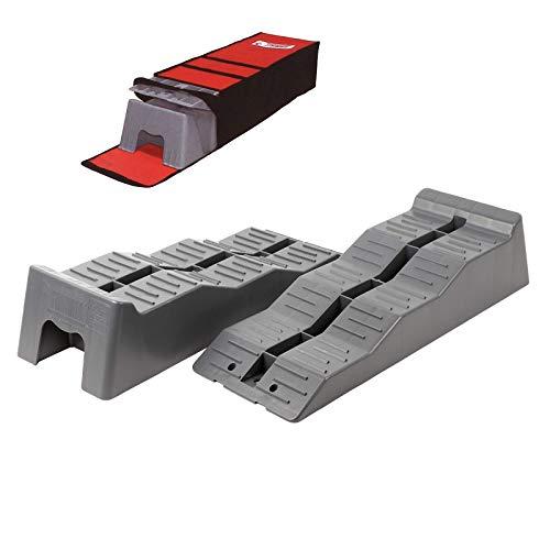 Fiamma® Level Up Ausgleichskeil | 2er Set + Tragetasche | 4–10cm | grau | Leveller | Keile