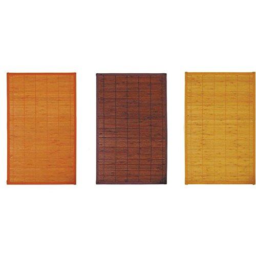 Lot de 6 sets de table en bambou 30 x 45