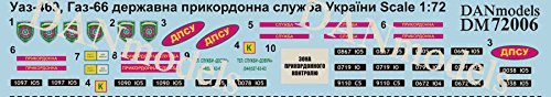 DECAL FOR UAZ-469, GAZ-66, STATE BORDER SERVICE OF UKRAINE 1:72 DAN MODELS 72006