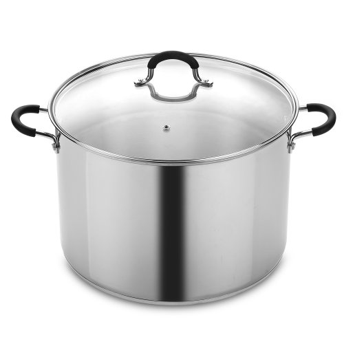 Cook N Home NC-00335 Stainless Steel Saucepot with Lid 20-Quart Stockpot, Qt, Silver