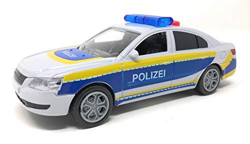 ToiToys Spielzeugauto Polizeiauto mit Sound,Schwungrad, Licht und DREI Funktionen. Kinder Spielzeug Polizeiwagen mit Sirene und Geräuschen. Inkl. Batterien.