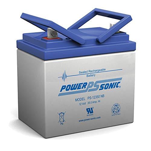 Power Sonic 12V 35Ah U1 AGM Solar Battery Also Replaces 33Ah, 34Ah, 36Ah