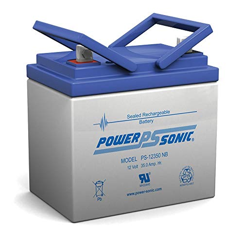 Powersonic 12V 35Ah Invacare New Nutron Series: R32LX, R50LX, R51LX, R51 Battery