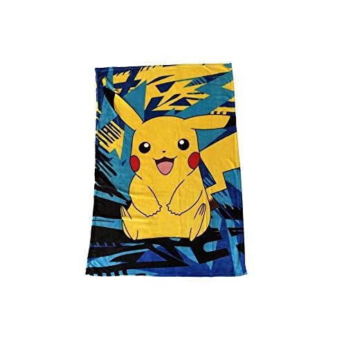 Pikachu - Manta de forro polar - Logo - Manta de forro polar - 100 x 150 cm - Amarillo