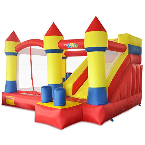 YARD Bounce House with Slide Obstacle Bouncer 0.4mm Vinyl Thick Material Children Outdoor Jump Castle w/ Heavy Duty Blower