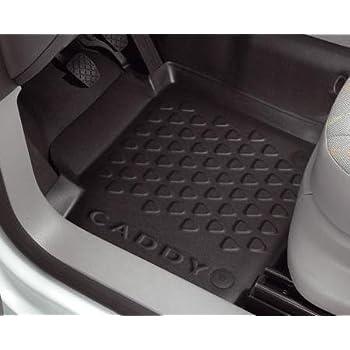 vidaXL Juego de Alfombrillas para Coche de Goma 4 Piezas VW Caddy Esterillas