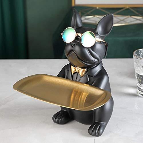 WGNMD Cool Bulldog, Statua, Decorazione della tavola, Scultura di Moda, Arredamento per la casa, Multifunzione, Portaoggetti da scrivania, Statuetta in Miniatura, Salvadanaio