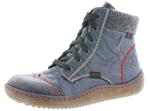 Rieker Damen Stiefeletten Z8412, Frauen Schnürstiefelette, leger Stiefel Chukka Boot halbstiefel,schwarz,40 EU / 6.5 UK