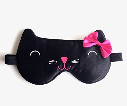 Black Cat Sleep Mask Kitty Eye Mask Girls Eye Mask Slumber Party Mask Bachelorette Party Mask.