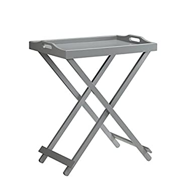 Convenience Concepts Designs2Go Folding Tray Table, Gray