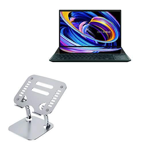 Suporte e suporte BoxWave para ASUS ZenBook Pro Duo 15 (UX582) [Suporte executivo VersaView] Suporte para laptop metálico ergonômico ajustável para ASUS ZenBook Pro Duo 15 (UX582) - Prata metálica
