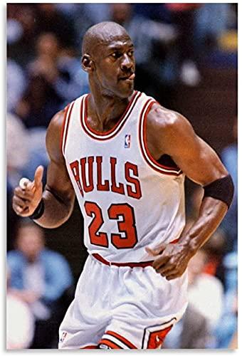 """PóSter Y Estampados Lebron James Vs Michael Jordan para decoración de Dormitorio Lienzo Pintura Pared Arte Cuadros 15.7""""x23.6""""(40x60cm) Sin Marco"""