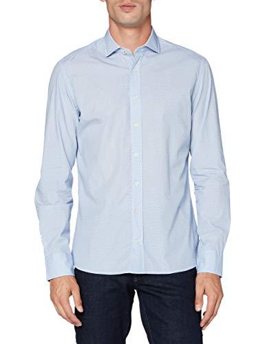 Hackett London Tennis Racket Print Camisa, Azul (551blue 551), 44 (Talla del fabricante: X-Large) para Hombre