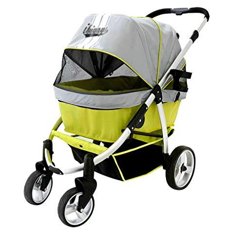Hondenwagen, kinderwagen, winkelwagen, inklapbare kattenkar, draagbare huisdierzak, kan 23 kg dragen, reizen en transport