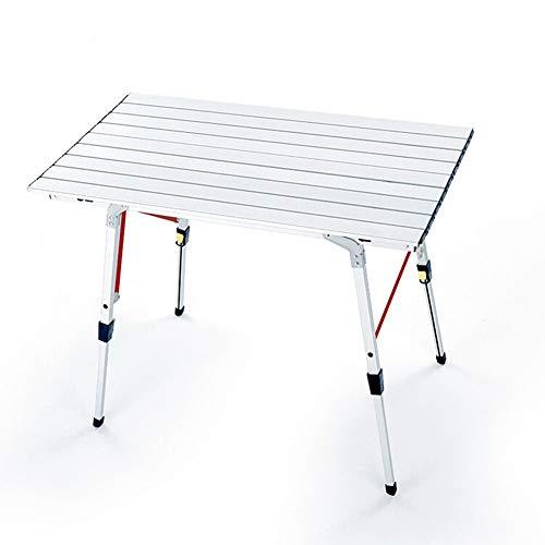 XLNB Table Pliante en Aluminium De 35 Pouces, Table De Camping Portative Légère à Hauteur Réglable, Sac De Rangement Inclus, pour Pique-Nique Beach Garden