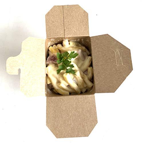 50 Scatole di Pasta Scatole di Cartone per Noodles Piatti di Pasta Cibi asiatici e orientali da asporto (960 ml)