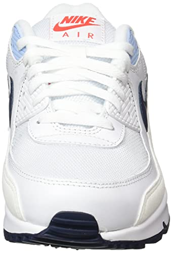 Nike Air MAX 90, Zapatillas Deportivas Hombre, White Chile Red Psychic Blue Midnight Navy, 41 EU