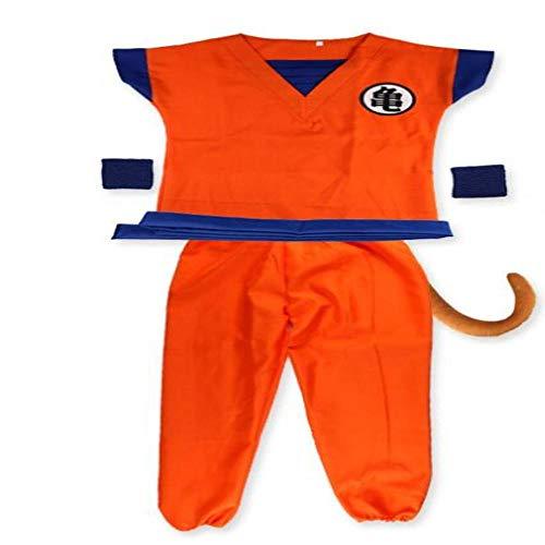 Dragon Ball Anzug Kleidung Goku Cosplay Kostüme Top/Hose/Gürtel/Schwanz/Wrister/Perücke für Erwachsene Kinder