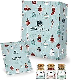 Ankerkraut Premium Gewürz-Adventskalender 2021   Weihnachtskalender mit 24 Gewürz-Überraschungen   Gewürz Kalender als Ges...