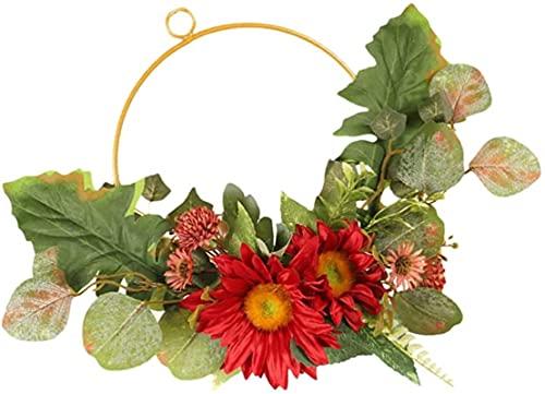 HYJMJJ Decoraciones navideñas Gracias Guirnalda Decoración Trigo Otoño Puerta Guirnalda Cosecha Decoración Adornos