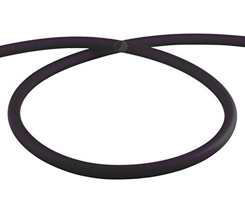 AMY Deluxe Shisha Silikonschlauch matt - schwarz | 150 cm