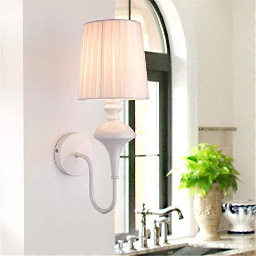 Led Plafond Lights Plafond Lamp Amerikaanse Land Tuin Hanglamp Wit Retro Smeedijzer Scandinavische Stijl Mediterrane Woonkamer Slaapkamer Bedkant Stof Wandlamp voor Slaapkamer Keuken Hal Offic