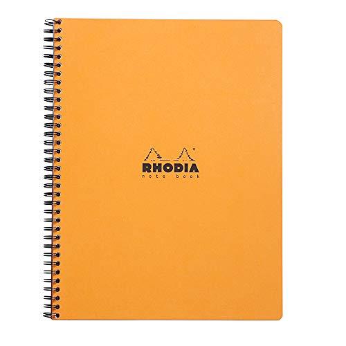 Rhodia 19300C - Bloc notes con rilegatura a doppia spirale e fogli microperforati, bordo con 4 fori, Classic, DIN A4, a quadretti, 80 g, 22,5 x 29,7 cm, 80 fogli, 1 pezzo, colori assortiti